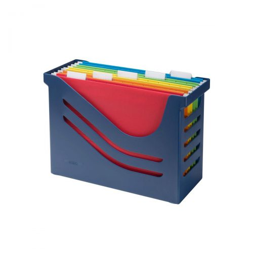 Jalema Resolution Blue File Box And 5 A4 Suspension Files