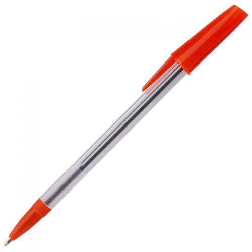 ValueX White Box Ballpoint Pen 1.0mm Tip 0.7mm Line Red (Pack 50)