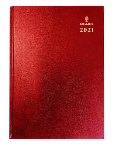Collins 40 A4 Week to View 2021 Diary Red
