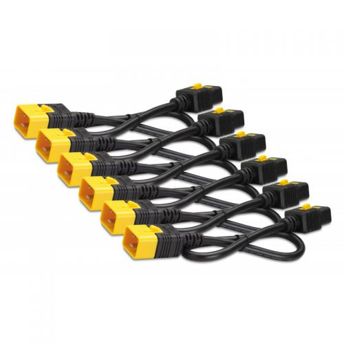 1.2m Locking C19 to C20 Power Cables x6
