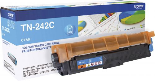 OEM Brother TN-242C Cyan 1400 Pages Original Toner