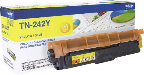 OEM Brother TN-242Y Yellow 1400 Pages Original Toner