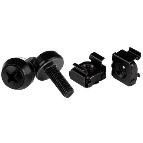 M5x12mm Screws and Cage Nuts Black x50
