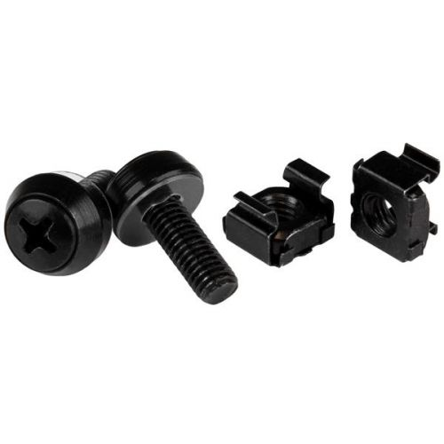 M6x12mm Screws and Cage Nuts x100 Black