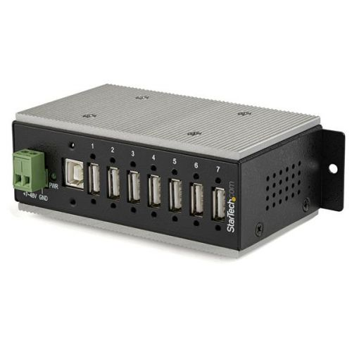 7 Port Ind USB 2.0 Hub ESD and 350W