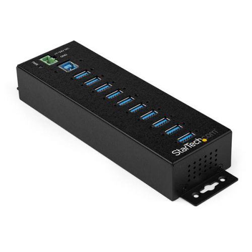 10 Port USB3 Ind Hub with Power Adapter