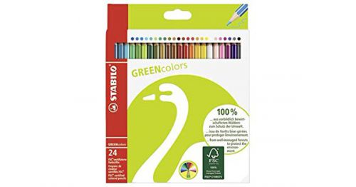 Stabilo Grn Colour Pencil FSC Pk24