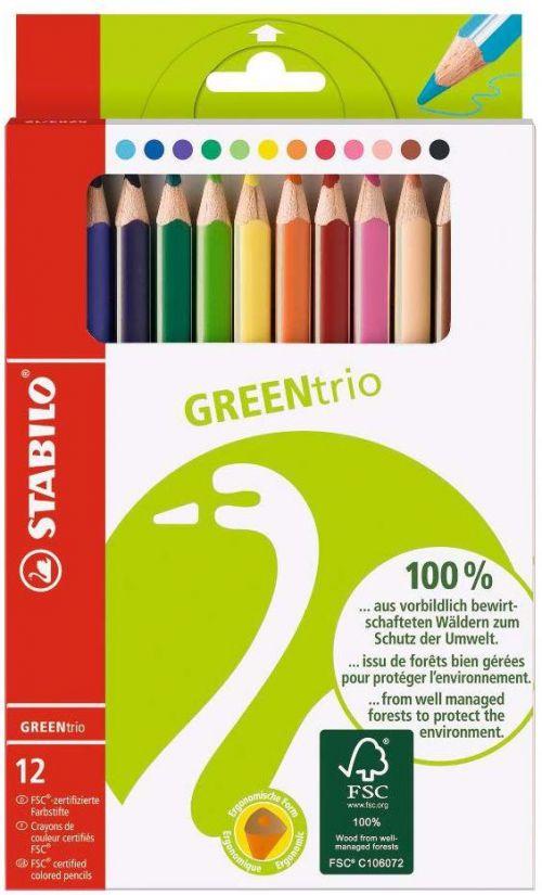 Stabilo GreenTrio Colour Pencil FSC Pk12