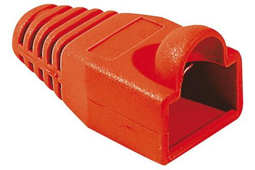 Bag of 10 Red RJ45 Sleeves 5.5mm