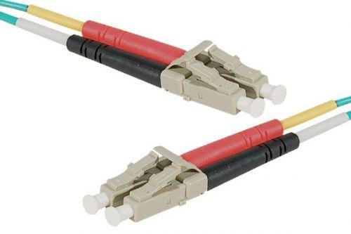 10m Fibre OM4 50 125 Aqua LCLC Cable