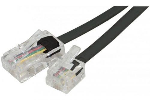 3m RJ11 to RJ45 Black Telephone Cable