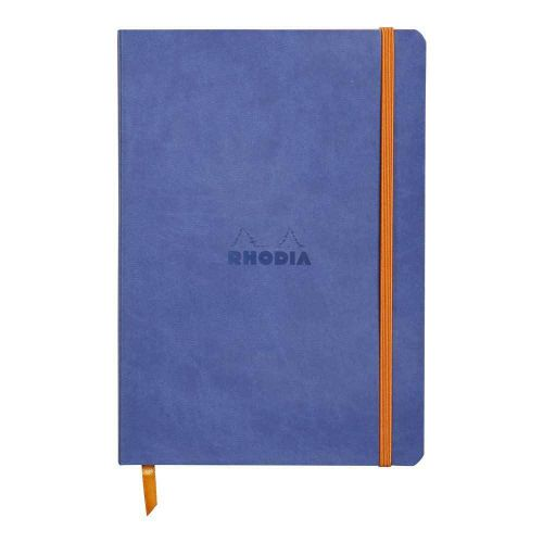 Rhodiarama Softcover Notebook Lined A5 Sapphire Blue BOGOF