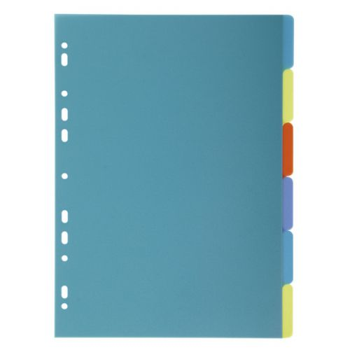 Exacompta Forever Recycled Divider 6 Part A4 300 Micron Polypropylene Assorted Colours