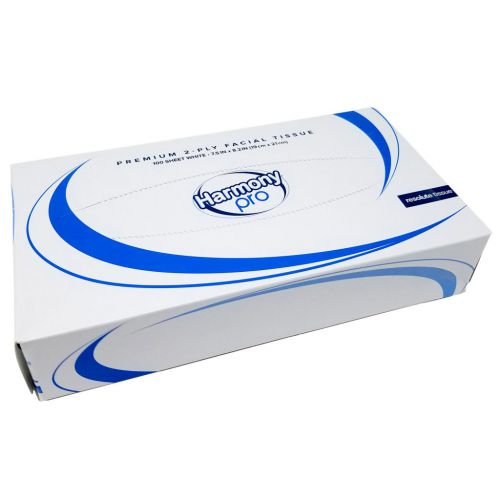 Harmony Professional Facial Tissue Box 2 Ply White 100 Sheet (Pack 35)