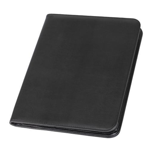 Alassio Lorenzo A4 Organiser File Leather Black