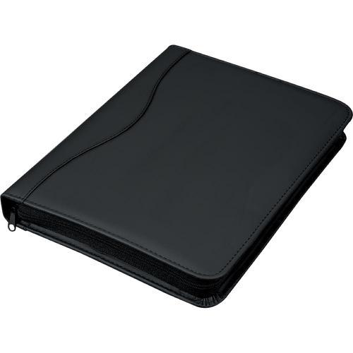 Alassio Rondo A4 Organiser File Leather Look Black