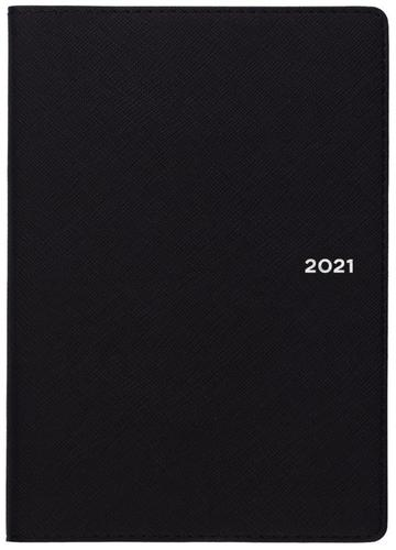 Collins Melbourne B6 Week to View 2021 Diary Black