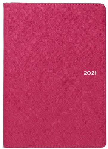 Collins Melbourne B6 Week to View 2021 Diary Pink