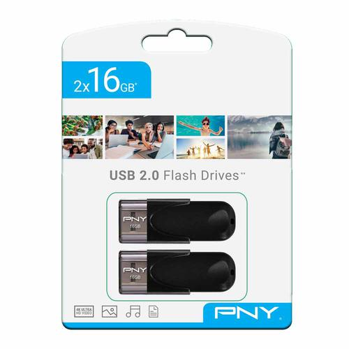 PNY 16GB Flash Drive 2.0 Twin Pack