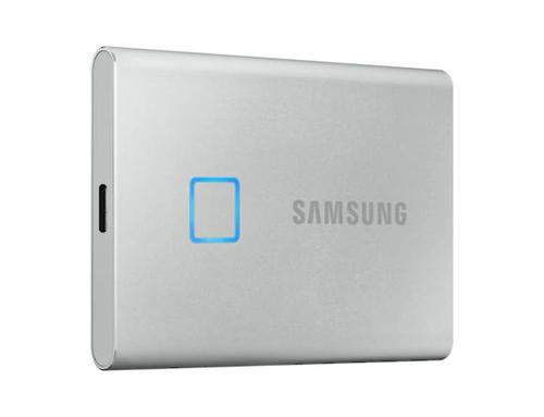 1TB T7 Touch USBC Silver NVMe Ext SSD