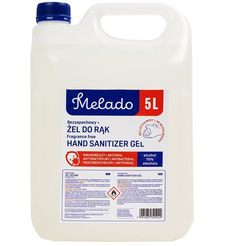 Melado Hand Sanitiser 5L PK10