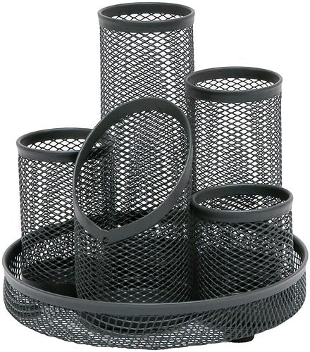OSCO Wiremesh 5 Tube Pen Pot Graphite
