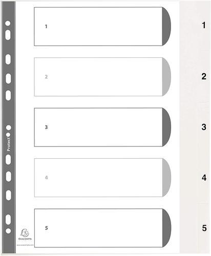 Exacompta Index 1-5 A4 PP White White Tabs