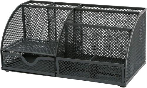 OSCO Large Wiremesh Desk Organiser Graphite