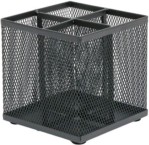 OSCO Wiremesh Square Pen Pot Graphite