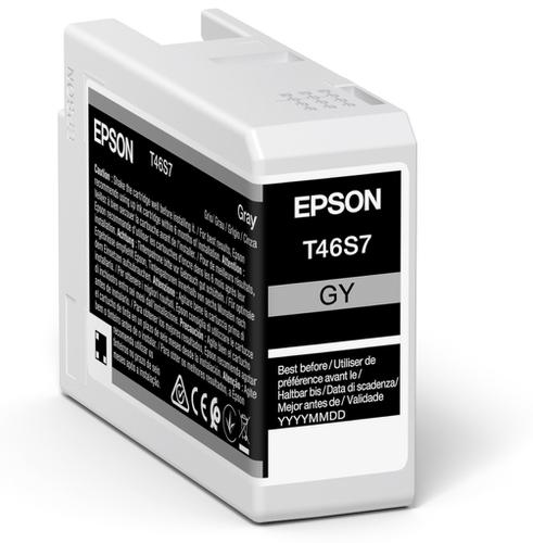 Epson Grey T46S7 Pro10 Ink Cartridge 25Ml