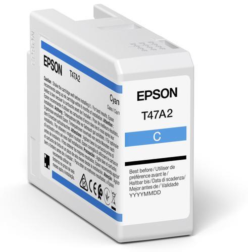 Epson Cyan T47A2 Pro10 Ink Cart 50Ml