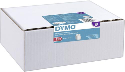 Dymo LabelWriter Large Address Label 36x89mm 130 Labels Per Roll White (Pack 12)