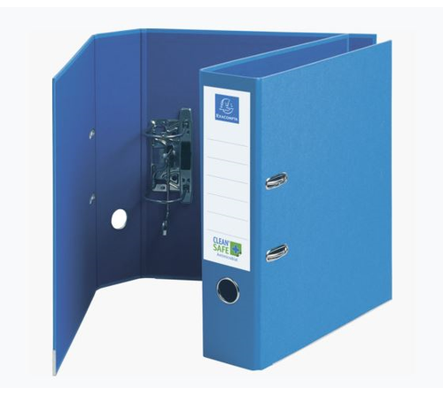 Exacompta CleanSafe Lever Arch File A4 Blue PK10