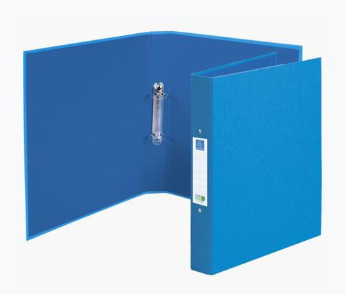 Exacompta CleanSafe Ring Binder Card with Anti-Microbial Paper 2 O-Ring 30mm Rings Blue (Pack 10)
