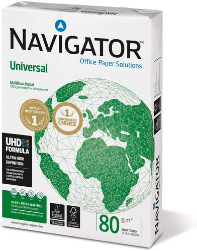 Navigator Universal Paper A4 80gsm White (Box 10 Reams)  | County Office Supplies