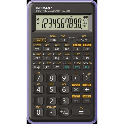Sharp EL501 Scientific Calculator Black/Purple