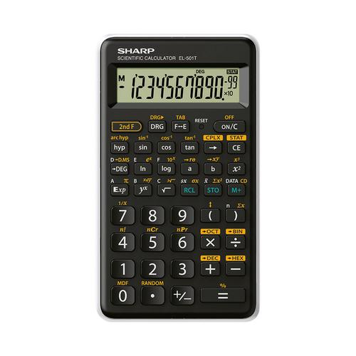 Sharp EL501 Scientific Calculator Black/White