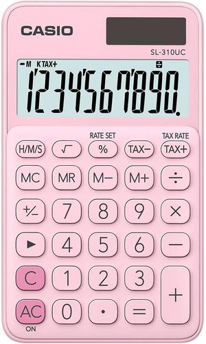 Casio SL-310 Pocket Calculator Pink