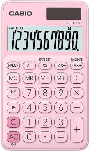 Casio SL-310 Pocket Calculator Pink SL-310UC-PK-W-UC