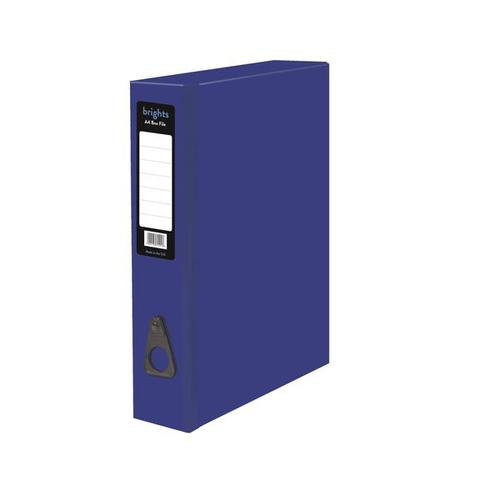 Pukka Brights Box File Laminated Paper on Board Foolscap 75mm Spine Width Catch Closure Blue (Pack 10)