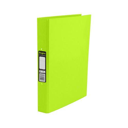Pukka Brights Ring Binder A4 Green Box of 10