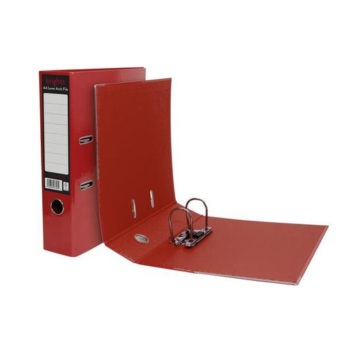 Pukka Brights Lever Arch File A4 Red Box of 10