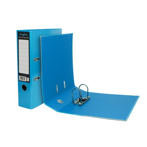 Pukka Brights Lever Arch File A4 Blue Box of 10