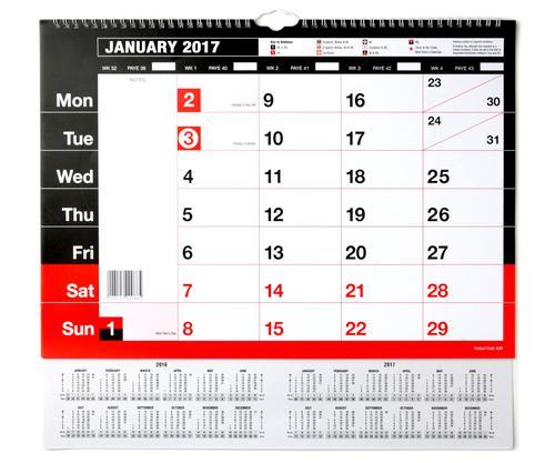 A3 Monthly Memo Calendar 2021