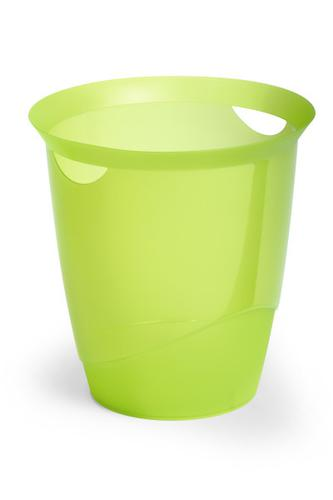 Durable Trend Waste Basket Translucent Green 16L 1701710005