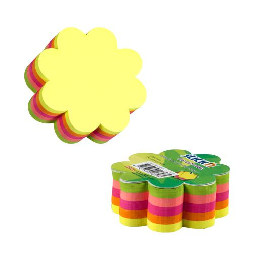 Stick n Notes Repositional Notes Die-Cut Cube Neon Flowers 67x67mm 21357 250 Sheets/Cube [Pack1]