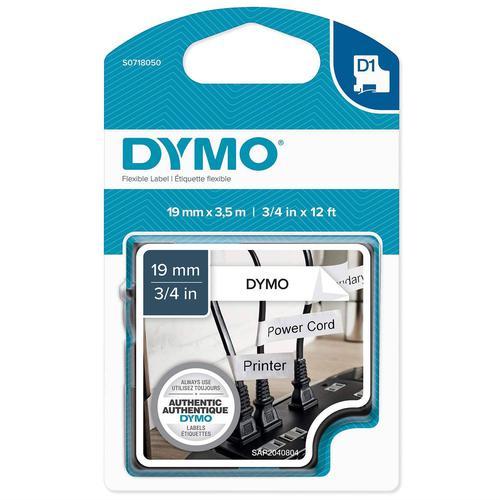 Dymo D1 Nylon Tape 19mm x 3.5m Black on White S0718050