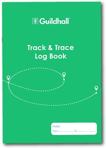 Guildhall Track and Trace Log Book A4 32 Pages 2020TTZ