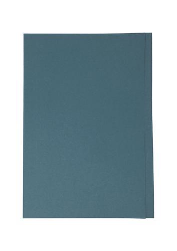 ValueX Square Cut Folder Manilla Foolscap 180gsm Blue (Pack 100)