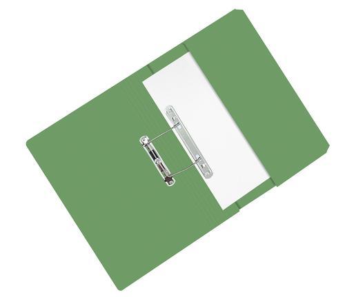 ValueX Pocket Transfer File Manilla Foolscap 285gsm Green (Pack 25)